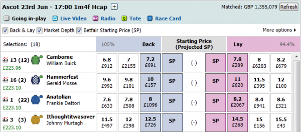 Horse trading strategy betfair