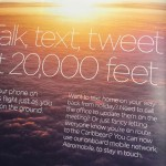 Trade, text and tweet from 20,000 feet