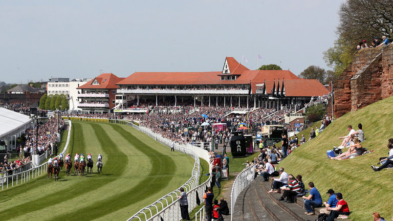 A view of Chester racecourse