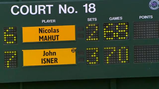 Mahut vs Isner